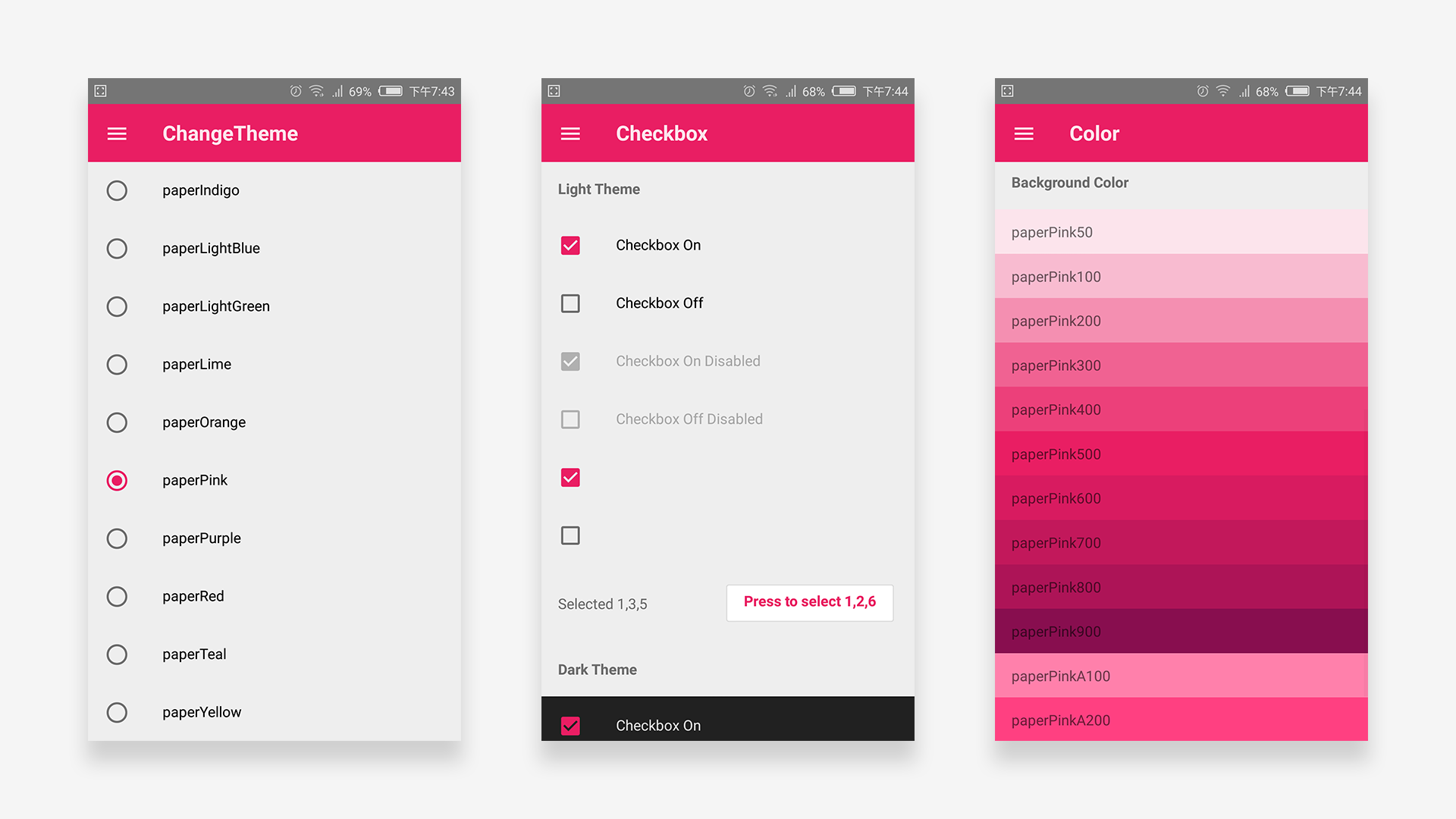 A Material Design style React Native component library