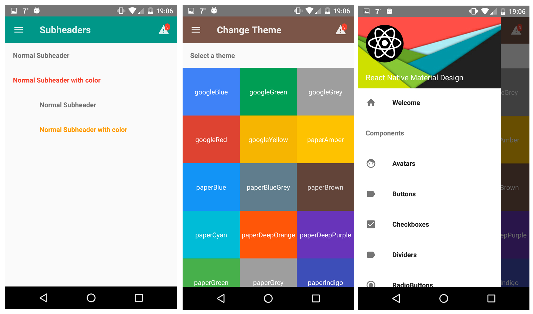 React Native Material Design