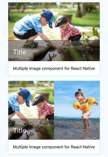 Card Media component for React Native Also supports multiple image layout