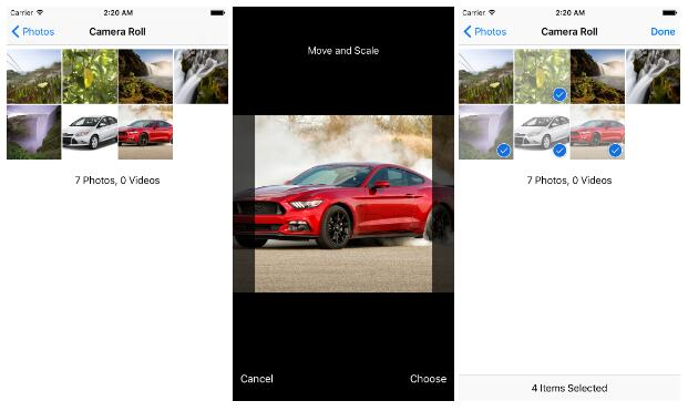 iOS/Android image picker with support for camera