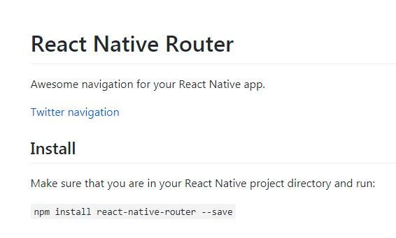 Awesome navigation for your React Native app