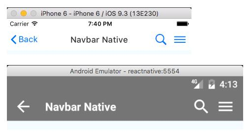 A new fully customizable Navbar component for React Native