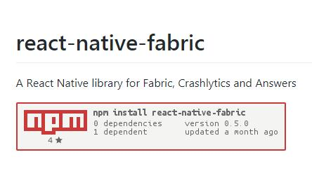 A React Native Library For Fabric Crashlytics And Answers