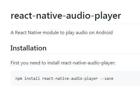 A React Native module to play audio on Android