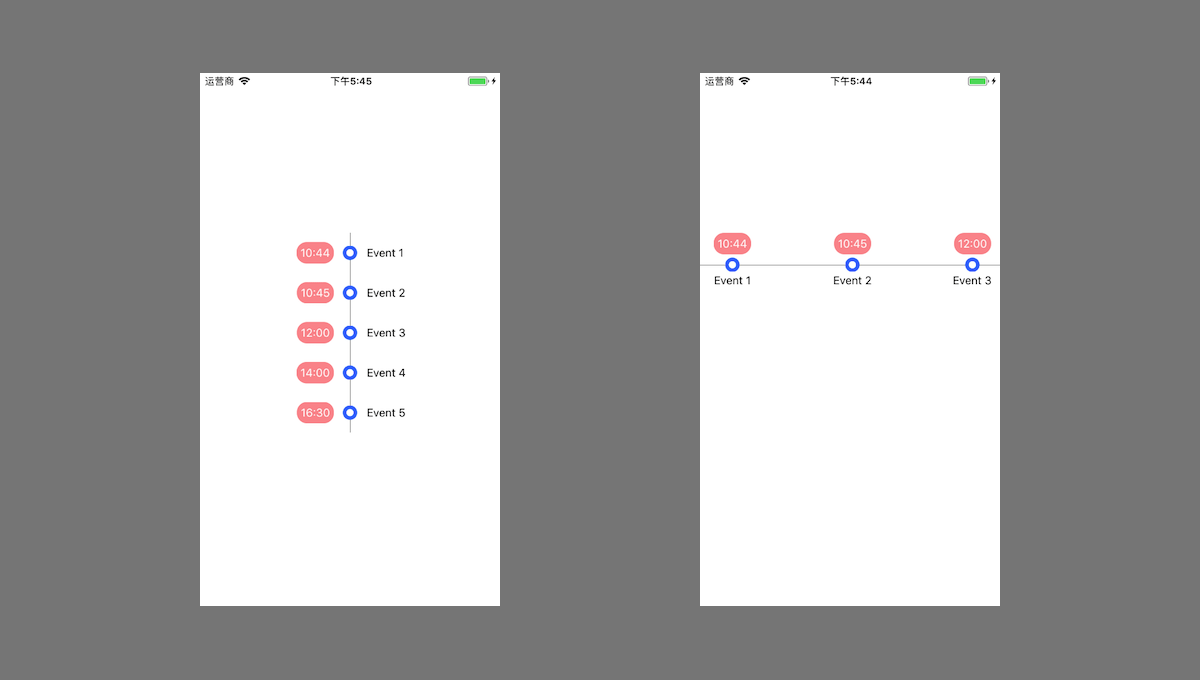 A react native timeline component