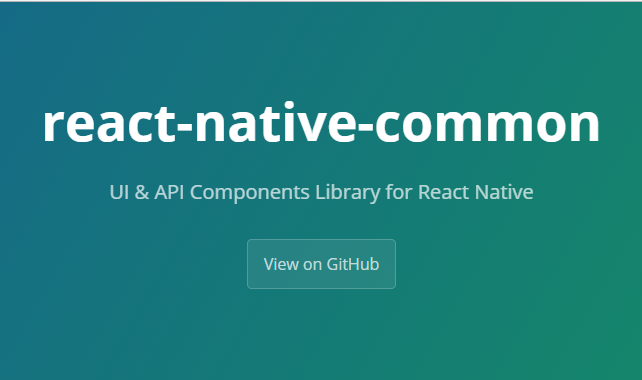 UI & API Components Library for React Native