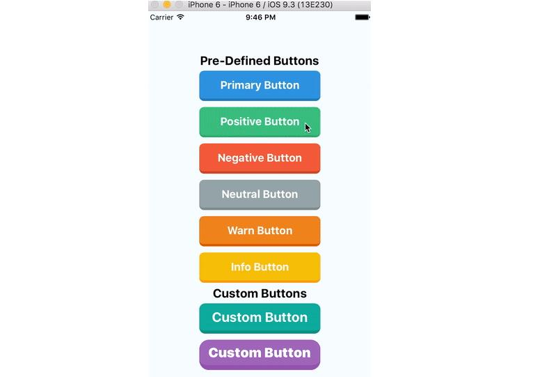 Flat button component for react native