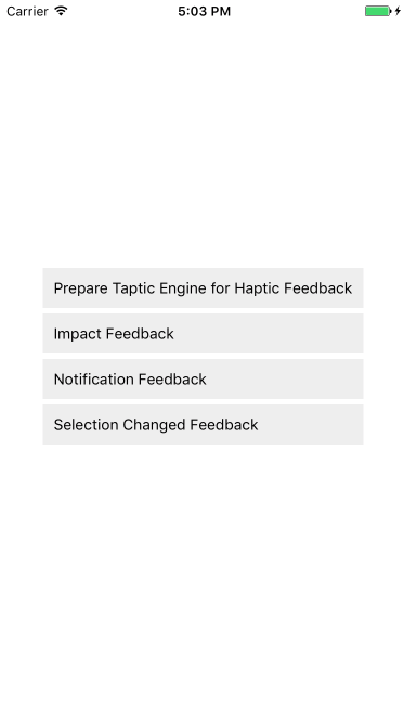 iOS 10 + haptic feedback for React Native applications
