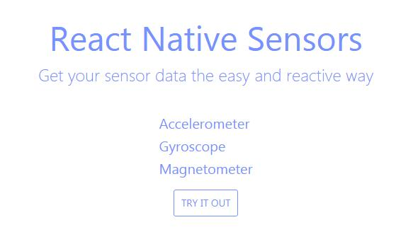 A developer friendly approach for sensors in React Native