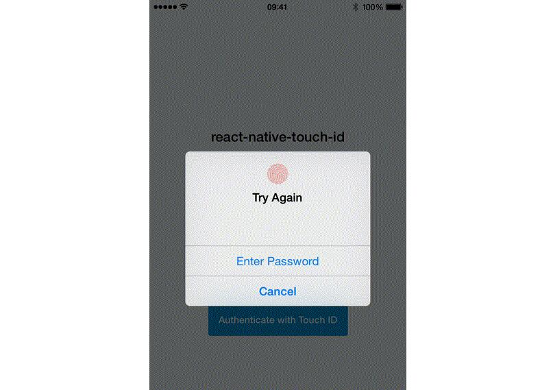 React Native authentication with the native Touch ID popup