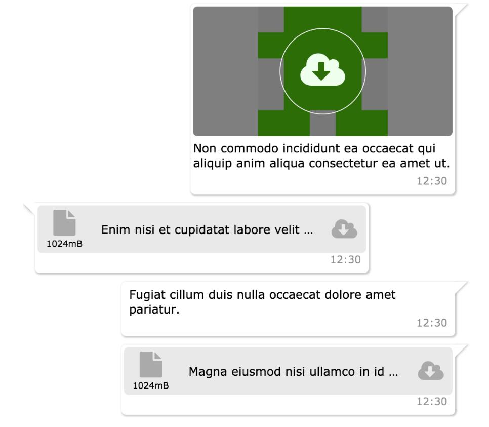 Reactjs chat elements chat UI