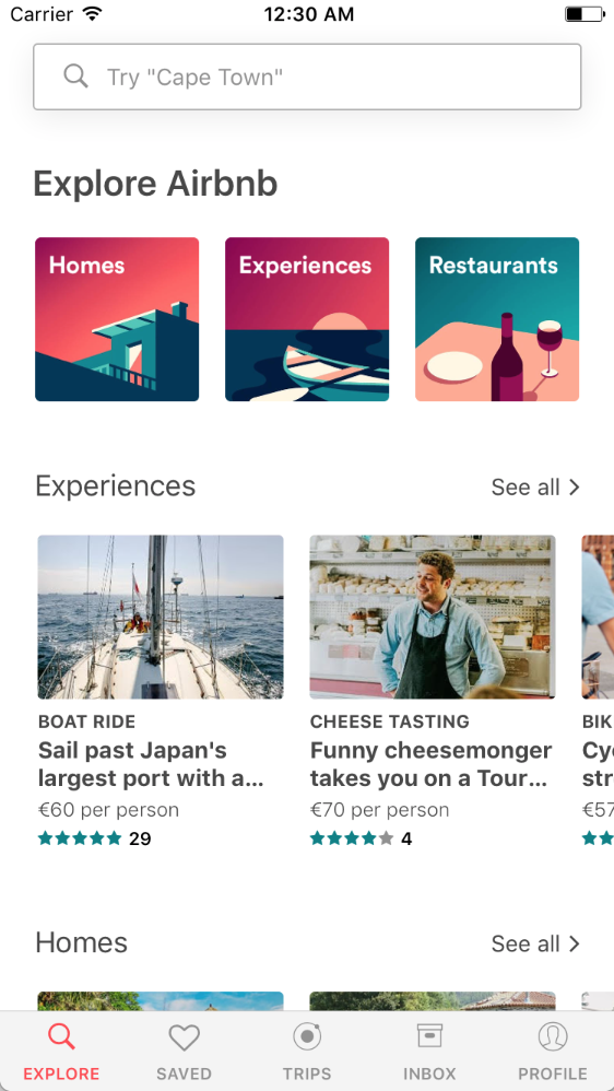 AirBnB mobile app clone using React Native & Redux
