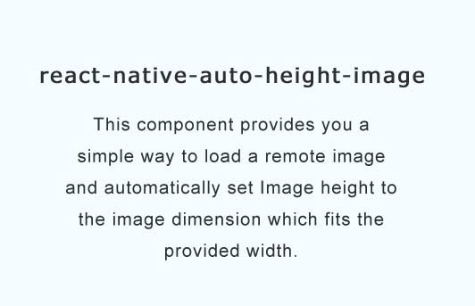 React Native auto height image