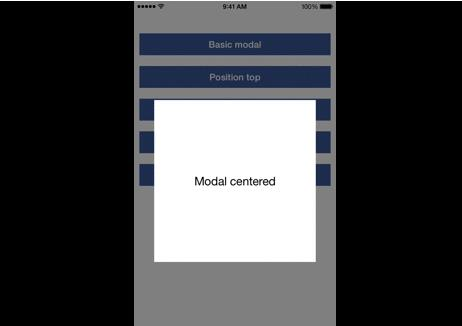 A Modal component for react native
