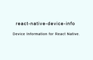 Get device information using react-native