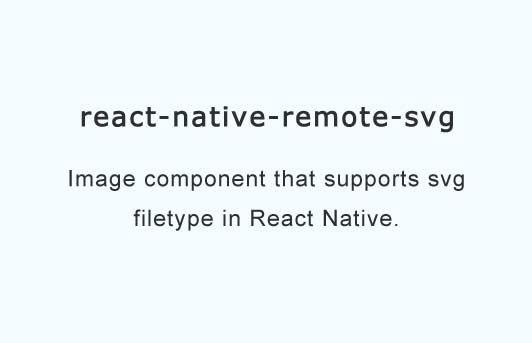 Adds support for loading svg images in React Native
