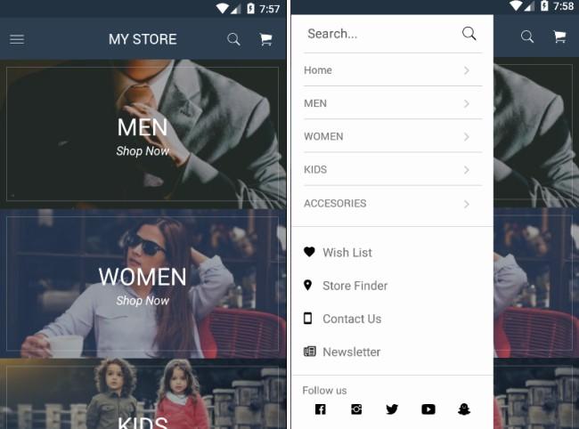A React Native Clothes Shopping App Ui