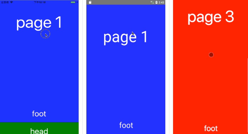 Inside scroll and Full page scroll with react native