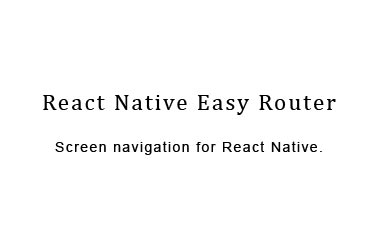 Screen navigation for React Native