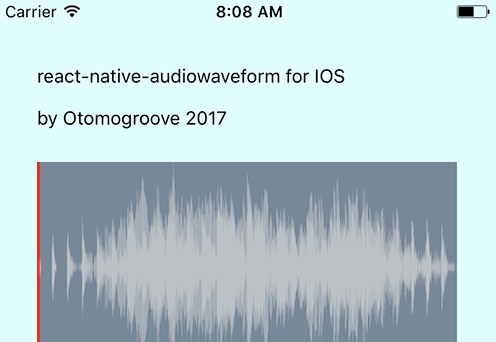 Audio waveform renderer for React Native