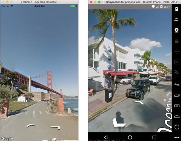 React Native Google's Panorama/StreetView component