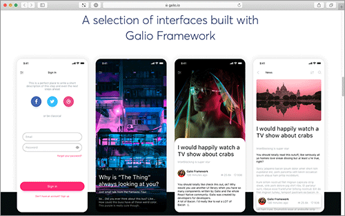 Beautifully designed and Open Source React Native Framework