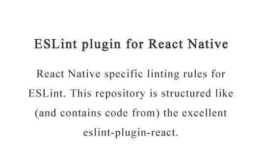 ESLint plugin for React Native