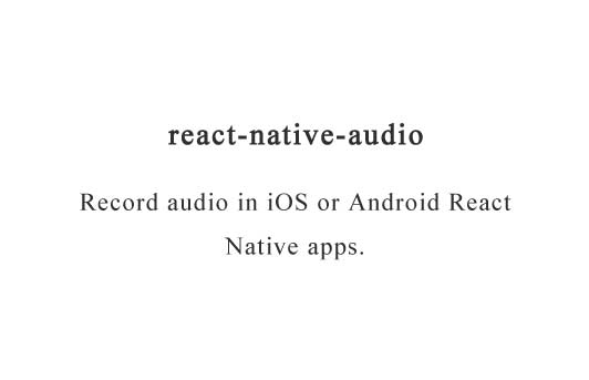 Audio recorder library for React Native