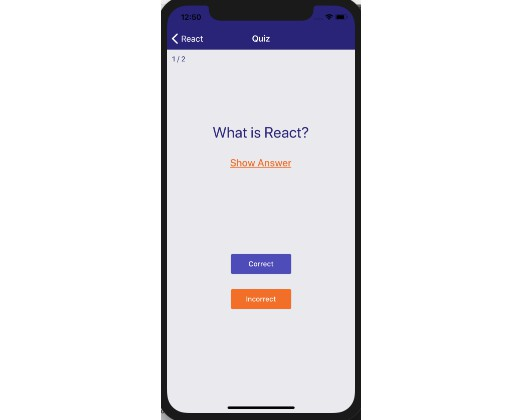 React Native/Redux App - Flashcards