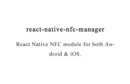 A NFC module for react native