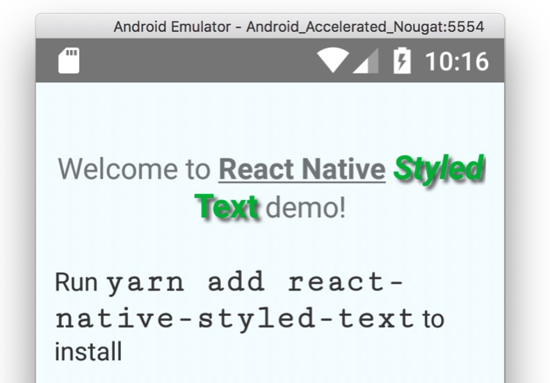 Styled Text for React Native