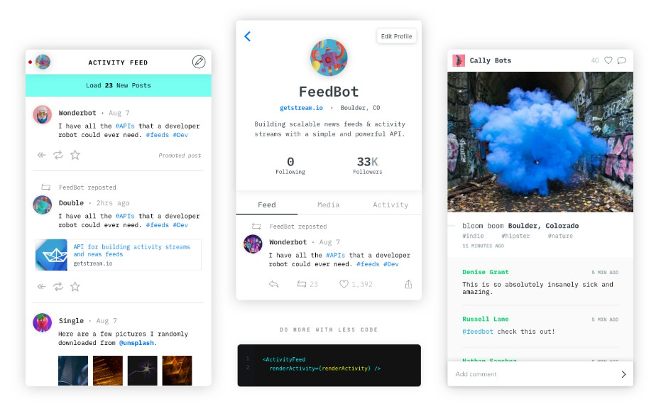 Stream React Native Activity Feed Components