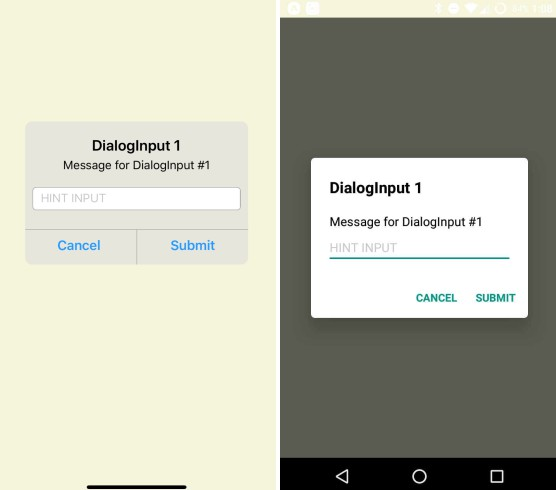 Dialog with input for React Native on iOS and Android