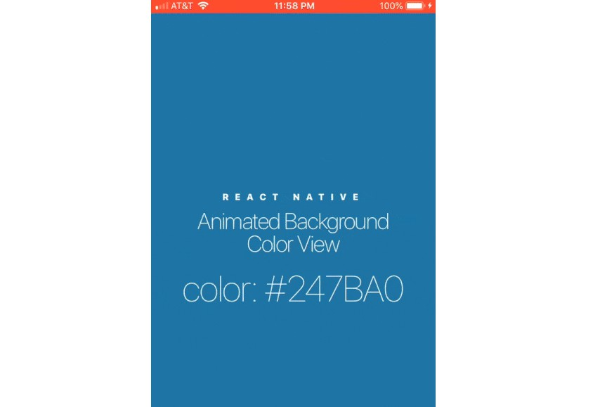 React Native Animated Background Color View