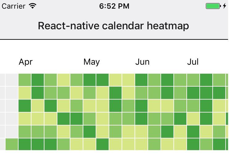 A calendar heatmap component built on SVG