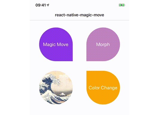 Create magical move transitions between scenes in react native
