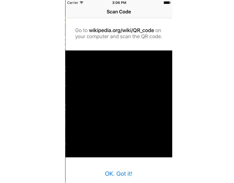 A QR code scanner component for React Native