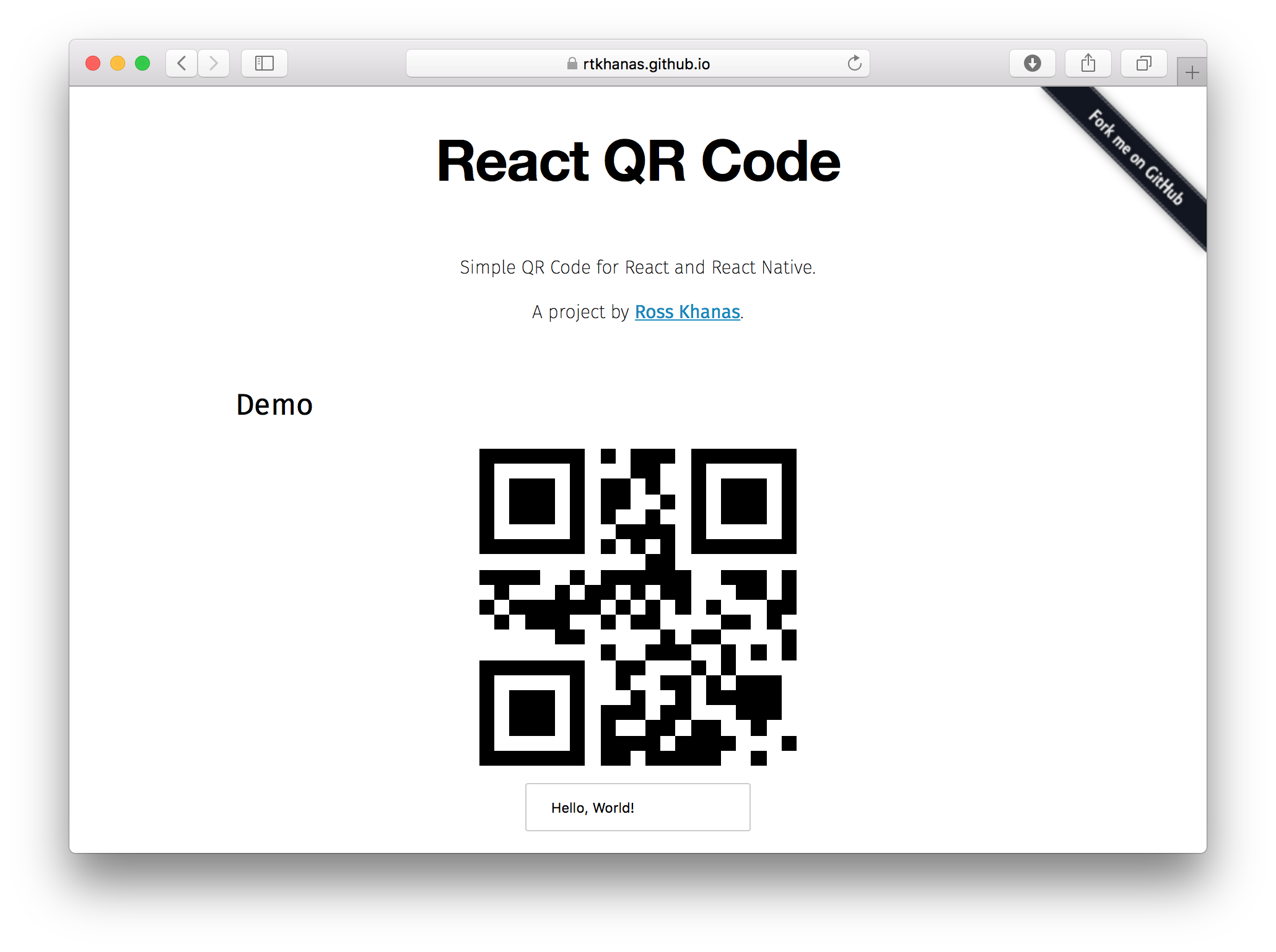 A QR code generator for React and React Native