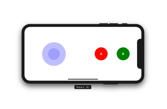 A React Native game pad using nipplejs for an on-screen joystick