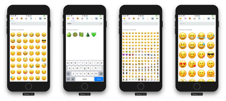 Emoji selector panel for React Native