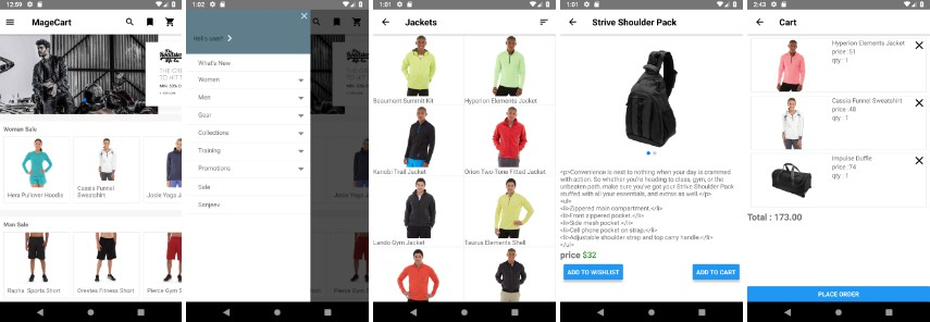 JSFeeds - E-commerce app for Magento 2 x written in React Native