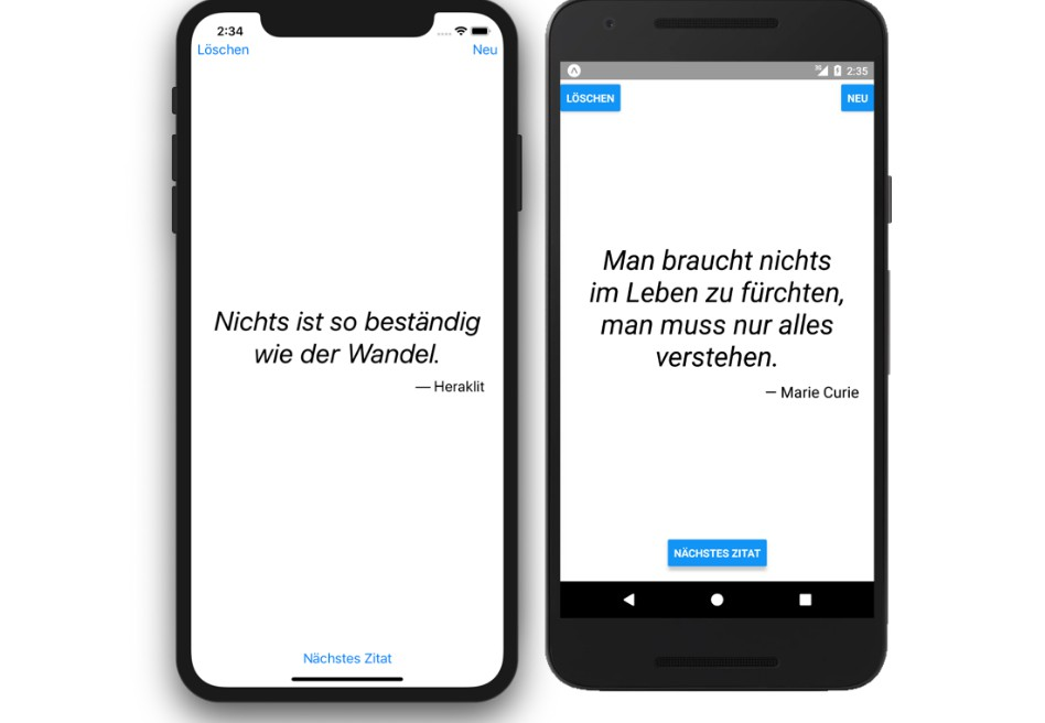React Native Nice Quotes app