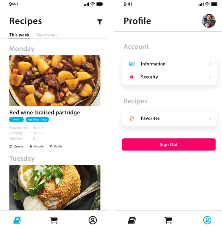 React native app to generate random recipes for your week