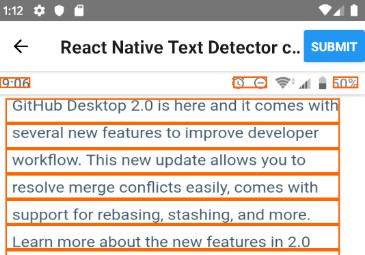 React Native Picture OCR