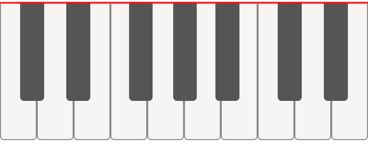 An interactive piano keyboard component with react native