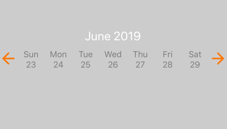 Date picker for react native light and does not use modals