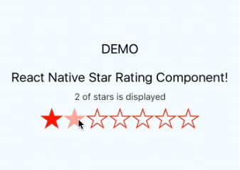 React Native component for generating and displaying interactive star ratings