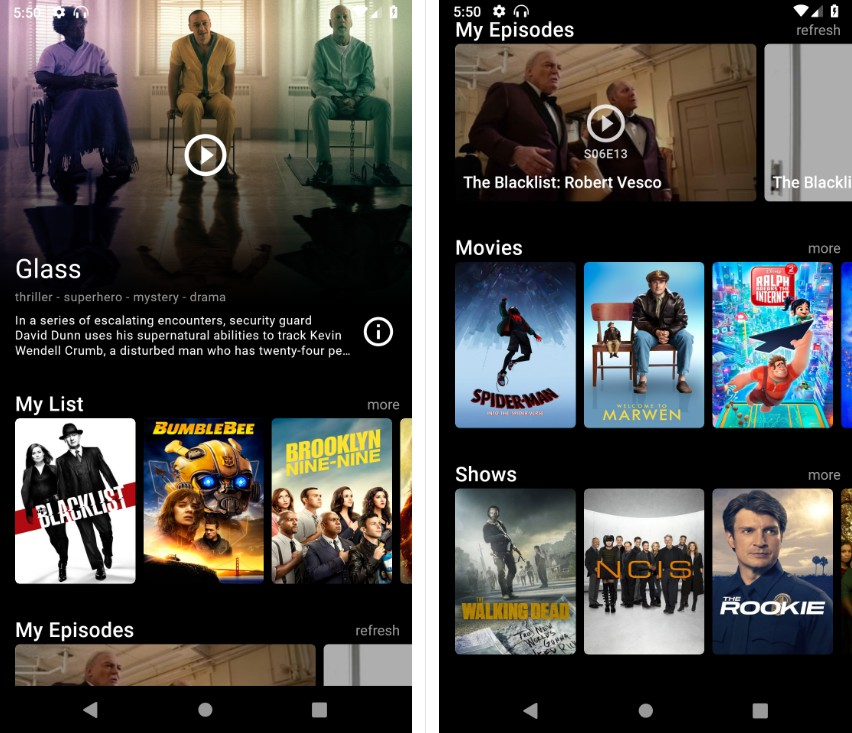 A Modern and Experimental Popcorn Time App