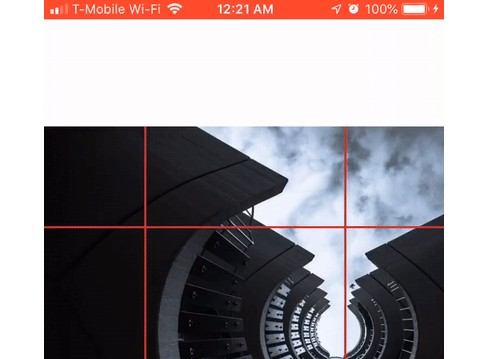 React Native component ImageEdit allows you to edit images inline for cropping