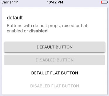 Material buttons with consistent behaviour on iOS and Android